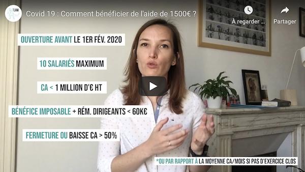 Covid 19 : Comment bénéficier de l'aide de 1500€ ?